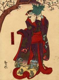 KABUKI ACTOR AS AN APPARITION OF HOKAIBO