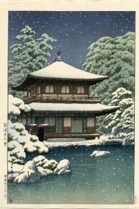 GINKAKUJI TEMPLE IN SNOW, KYOTO