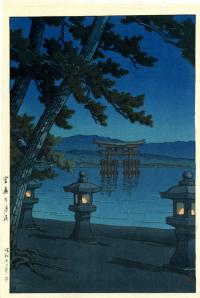 NIGHT SCENE AT MIYAJIMA SHRINE