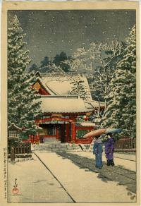 SNOW AT HIEI SHRINE