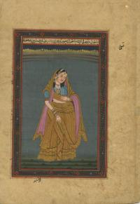 MOGUL PRINCESS IN GOLD DETAILED SARI